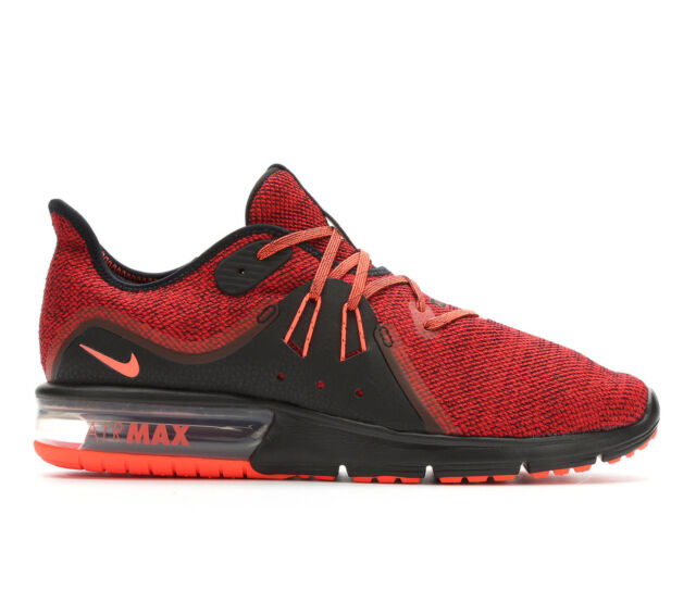 ae206c513437f Nike Air Max Sequent 3 Mens 921694-066 Black Red Knit Running Shoes ...