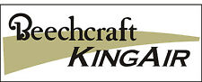 A113 Beechcraft Kingair Airplane banner hangar garage decor Aircraft signs