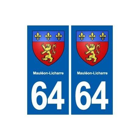 64 Mauléon-Licharre blason autocollant plaque stickers ville droits