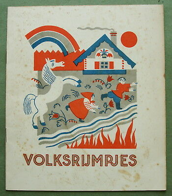 Russian Avant-Garde Children's Book 1930 Konashevich: People's Rhyms (Dutch ed.)