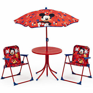 DELTA CHILDREN DISNEY MICKEY MOUSE KIDS OUTDOOR PATIO SET TABLE ...
