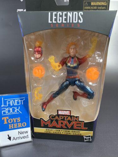 "Toys Hero In Hand MARVEL LEGENDS CAPTAIN MARVEL BINARY FORM 6/"" inch"