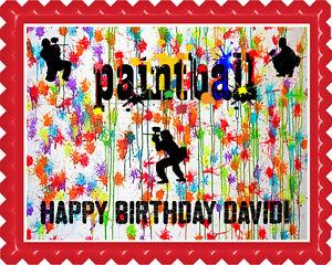 Brilliant Paintball Edible Birthday Cake Topper Or Cupcake Topper Ebay Birthday Cards Printable Giouspongecafe Filternl