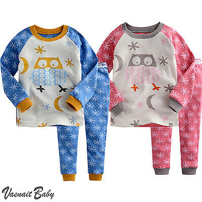 "Vaenait Baby Toddler Kids Boys Girls Clothes Long Pyjama Set ""Owl Snow"" 12M-7T"
