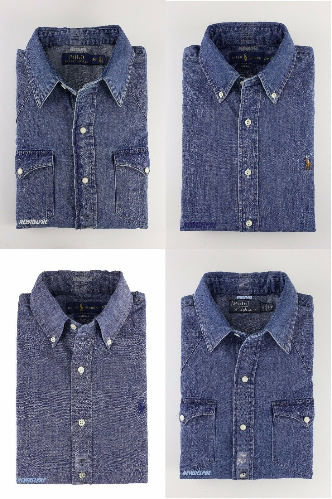 4c79f3d78 NWT Polo Ralph Lauren Men's Long Sleeve Denim Button Down Shirts S M L XL  2XL