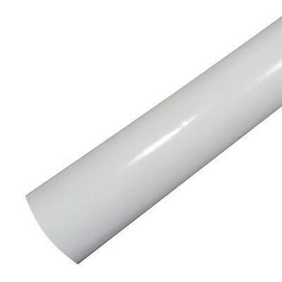 Gloss White Vinyl Wrap Bathroom Kitchen Cupboard Fridge w/ Air Release
