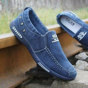 Mens-Flat-Casual-Comfortable-Breathable-Jean-Canvas-Shoes-Slip-On-Loafers-Shoes