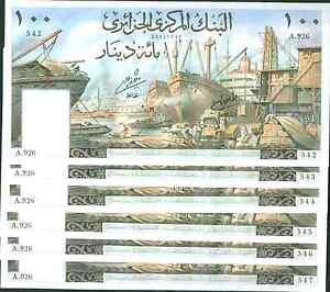 ALGERIA 100 DINARS 1964 P 125 ONE NOTE VF CONDITION 3RW 18NOV