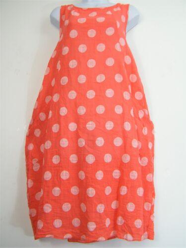 LagenLook 100/% Cotton Spotty Lightweight Summer Dress Pockets One Size:Regular
