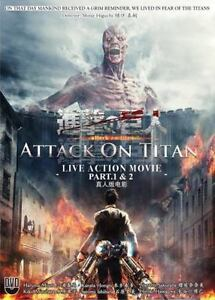 DVD Attack On Titan Live Action Movie Part I and II ...