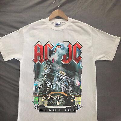 Vintage ACDC BLACK ICE TRAIN TOUR Shirt T-SHIRT New REPRINT