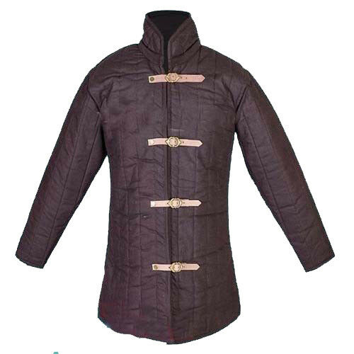 X-Mas Gift Medieval Thick Padded Brown Gambeson Costumes Suit of Armor Theater
