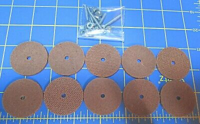 """For Jointed Teddy Bear = 10 1 1//4/"""" Hard Board Discs with Tap Bolt Sets"""
