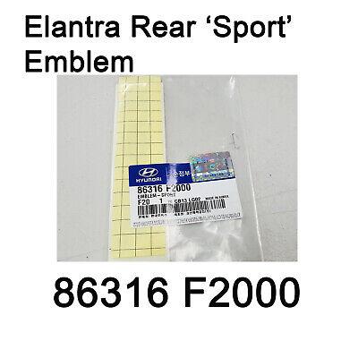 OEM Chrome Sport Lettering Emblem Point Badge for HYUNDAI 2017-2018 Elantra AD