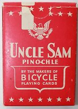 1943 USPCC Uncle Sam Pinochle Playing Cards