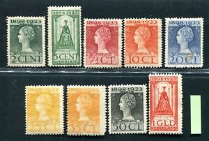 Nederland, frankeer nvph 121 / 129, ongebruikt ;