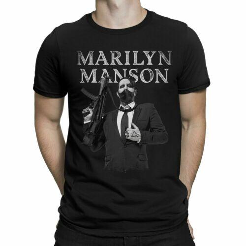 Rock Metal Band T Shirt USA Size Rare Vintage Marilyn Manson T-Shirt