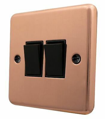 G/&H CBC201 Standard Plate Bright Copper 1 Gang 1 or 2 Way Rocker Light Switch