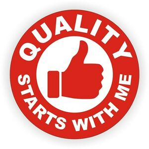 Quality Starts With Me Hard Hat Decal / Helmet Stickers Safety Label Laborer