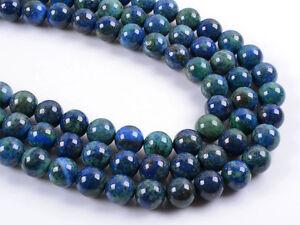 0281a 12mm Natural Lapis chrysocolla round loose gemstone beads 16
