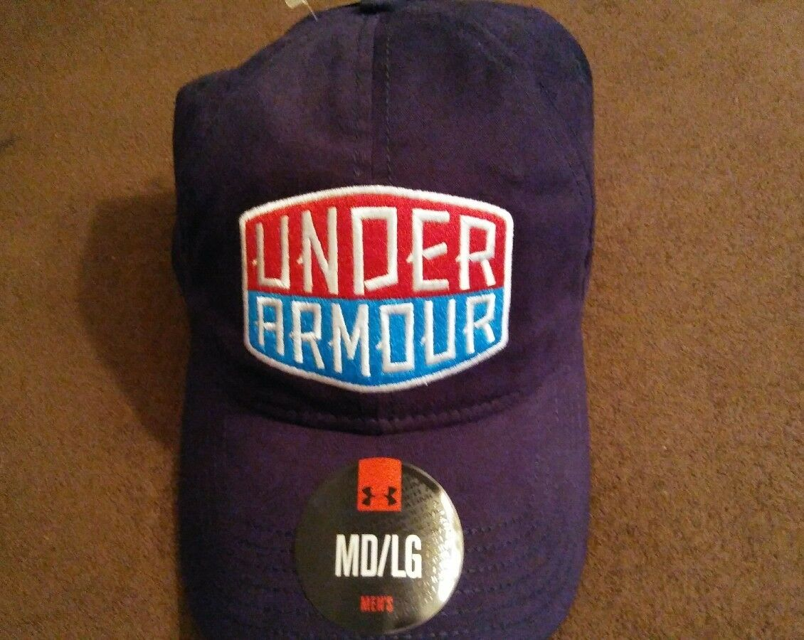 New Under Armour Hat With Fitted Patch Patch Fitted Red White Blue