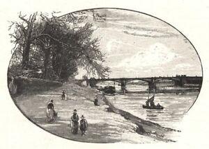 Responsable Nottinghamshire. Trent Bridge, Nottingham 1901 Old Antique Print Picture Haut Niveau De Qualité Et D'HygièNe