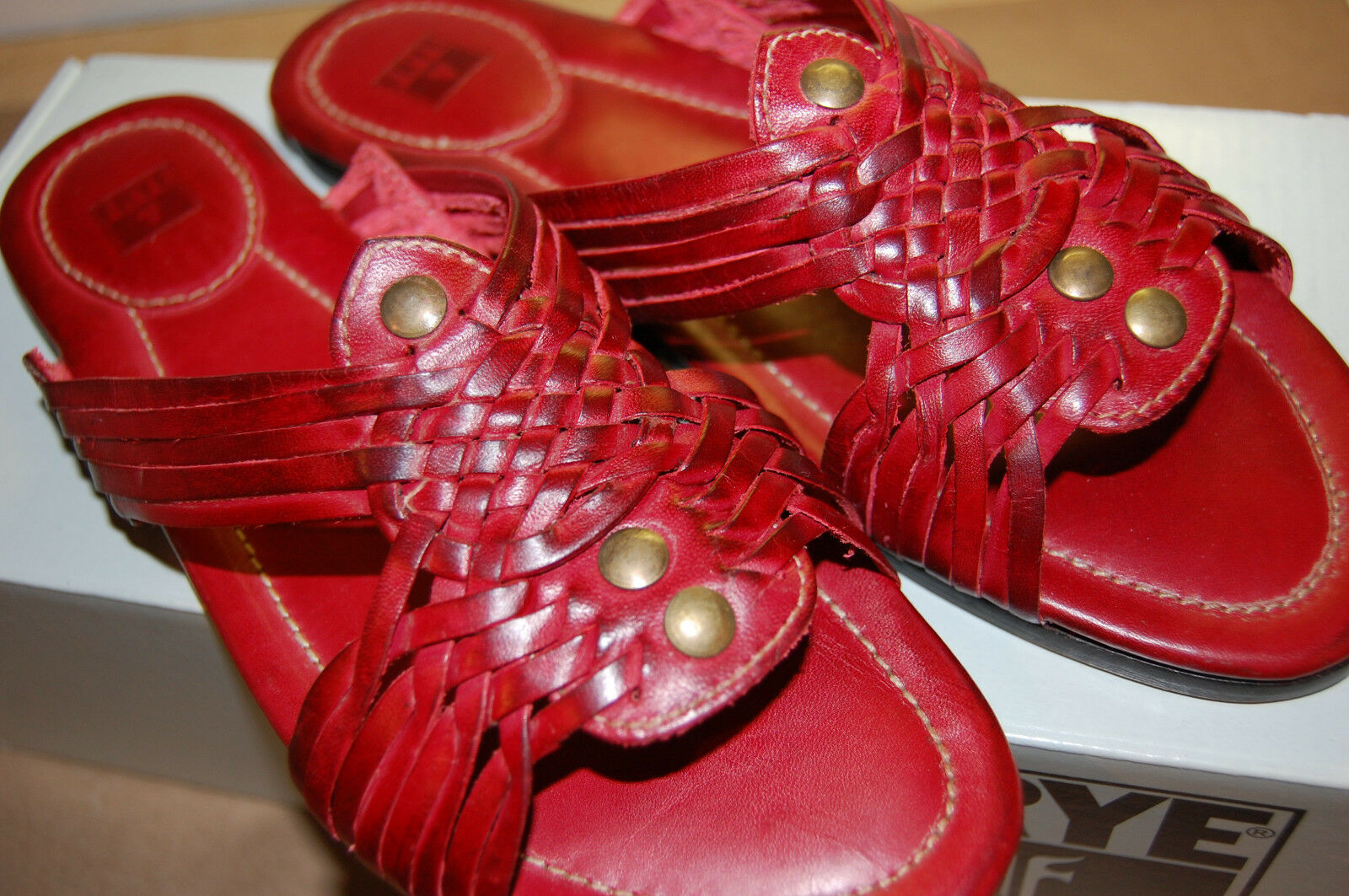 NIB Frye Jacey Huarache Slide rosso Medium    sandals Leather 6.5 top quality donna cac34c