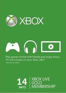 14 días Xbox Live de prueba Gold SUBSCRIPCIÓN Tarjeta para Xbox One / 360 ESPAÑA
