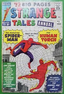 Strange-Tales-Annual-2-Stan-Lee-Jack-Kirby-1st-Spider-man-crossover-1963-Marvel