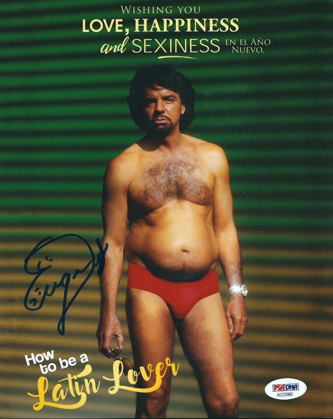 Eugenio Derbez Signed 'How To Be A Latin Lover' 8x10 Photo PSA AD23980