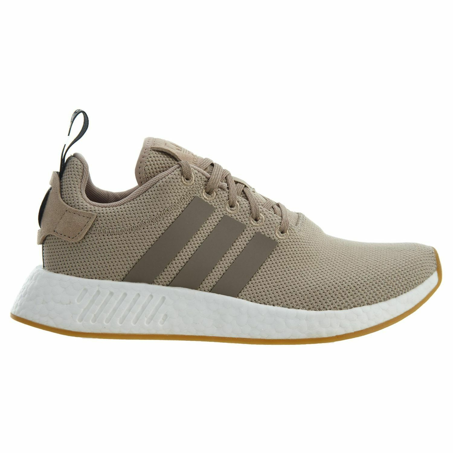 Adidas NMD_R2 Mens BY9916 Trace Khaki Brown Knit Boost Running Shoes Size 12