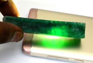 Gemstone Slice Rough 228.70 Ct Colombian Green Emerald Natural Certified Q9593