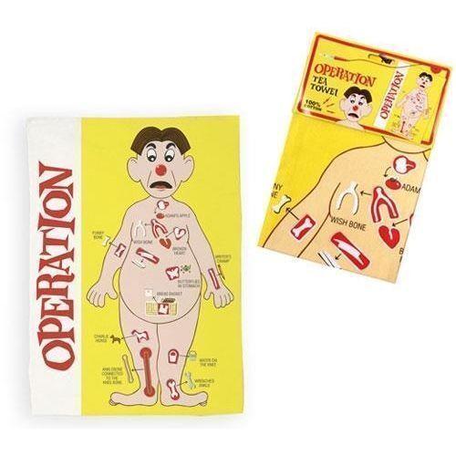 Operation Tea Towel 100/% Cotton Retro Board Game Hasbro Cloth Kitchen Gift