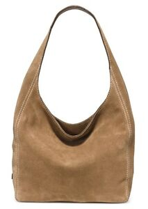 Michael Kors Lena Suede Hobo Shoulder Tote Bag Desert Tan Suede ...
