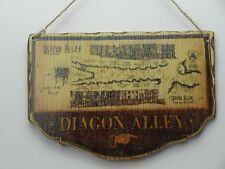 DIAGON ALLEY MAP HAND MADE HANGING WOODEN SIGN HARRY POTTER