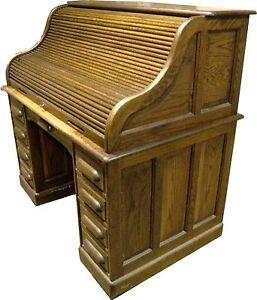Image Is Loading Antique Paine Furniture Oak S Roll Top Desk