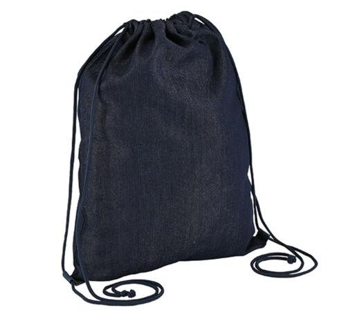 Denim Jeans Turnbeutel Sportbeuel Gym Sack Bag Beuteltasche
