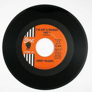 JIMMY McGRIFF I've Got A Woman Pt1./I've Got A Woman Pt2. 7IN 1962 NORTHERN VG++