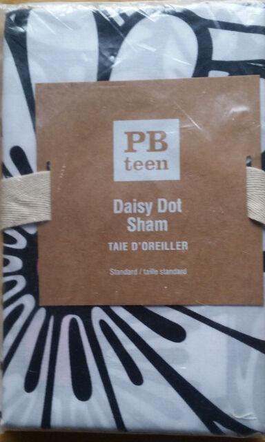 Pottery Barn Teen Daisy Dot Standard Sham Black Amp Pink Nip