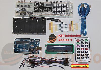 STARTER KIT INICIACION basico ARDUINO CON LCD y ESTUCHE  desde España EL0108
