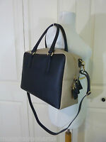 Gianni Notaro Black/beige Saffiano Leather Satchel Bag - Made In Italy