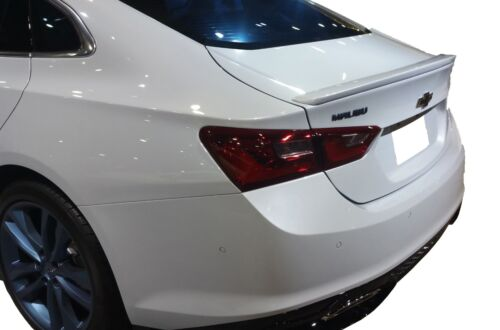 PAINTED ALL COLORS CHEVROLET MALIBU FLUSH MOUNT FACTORY STYLE SPOILER 2016-2019