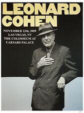"""Leonard Cohen Las Vegas 16"""" x 12"""" Photo Repro Concert Poster"""