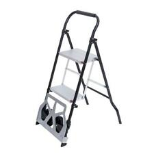 2 In 1 Multifunctional 3 Step Ladder Hand Truck Trolley Cart Folding With 2 Wheels