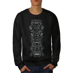 New Spiritual Men Sweatshirt Black Totem Fashion w1UFTqcwW