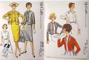 2-Vtg-1960s-McCalls-Sewing-Patterns-5790-5029-Short-Cropped-Jacket-Dress-Bust-32