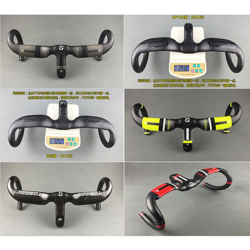 Road Bike Bicycle Carbon Racing Drop Integrated Bar Stem Rise Handlebar TOSEEK