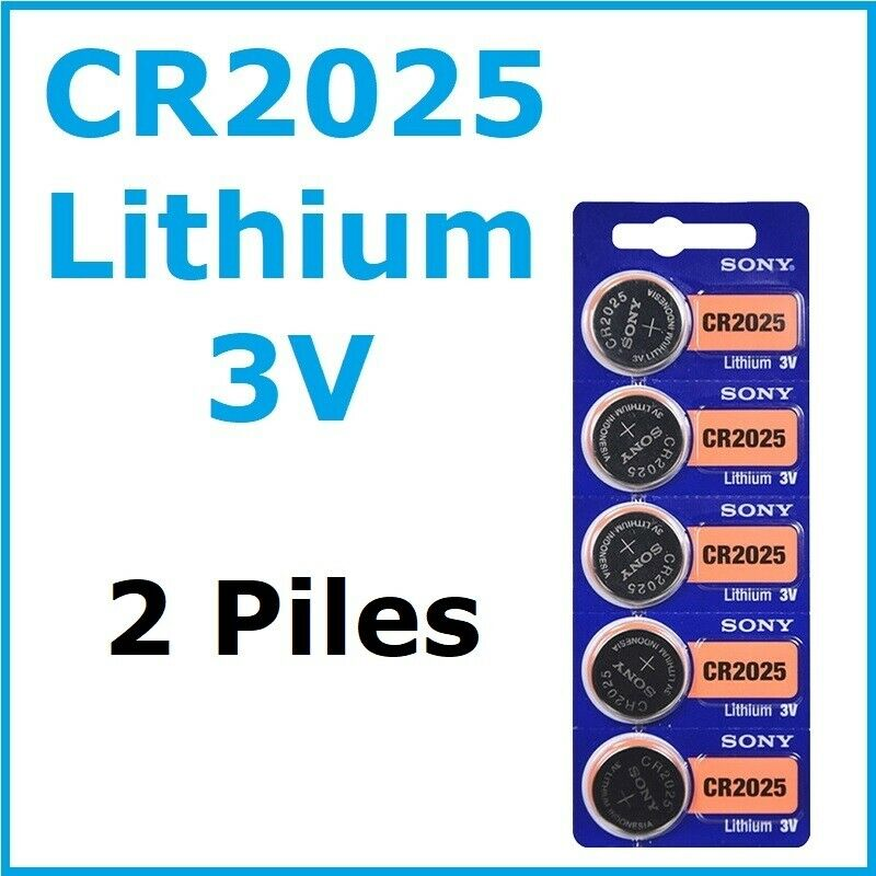 2 batteries sony cr2025/cr 2025/3v lithium/fast dispatch