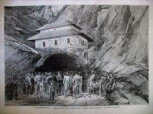 PYRENEES-PERCEMENT-TUNNEL-MONT-SAINT-GOTHARD-CANTON-D-039-URI-AIROLO-GRAVURES-1880