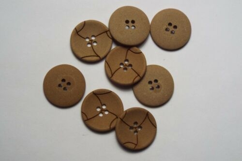 8pc 21mm Coffee Cream Mock Leather Cardigan Trouser Shirt Kid Baby Button 0577